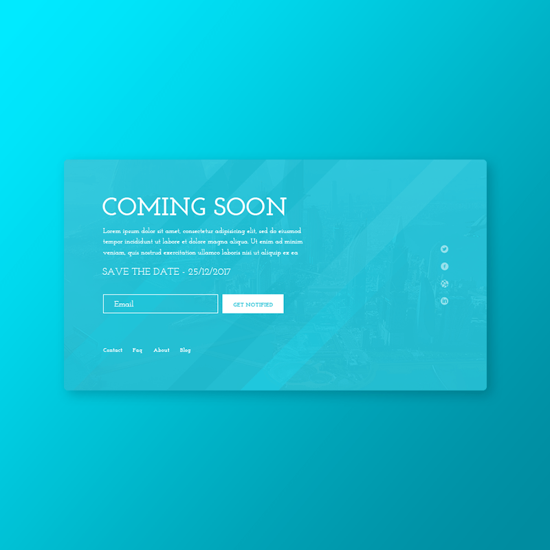 Startup Coming Soon – PSD Template
