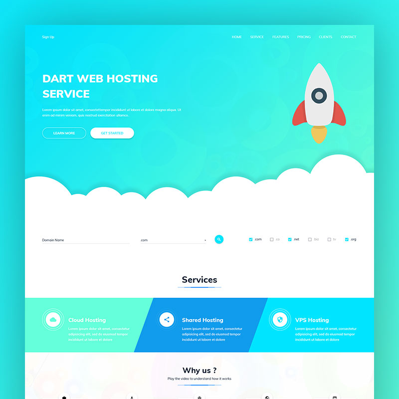 Dart Hosting – HTML Template