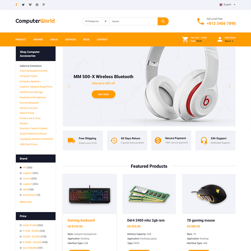 Computer Store – HTML Template
