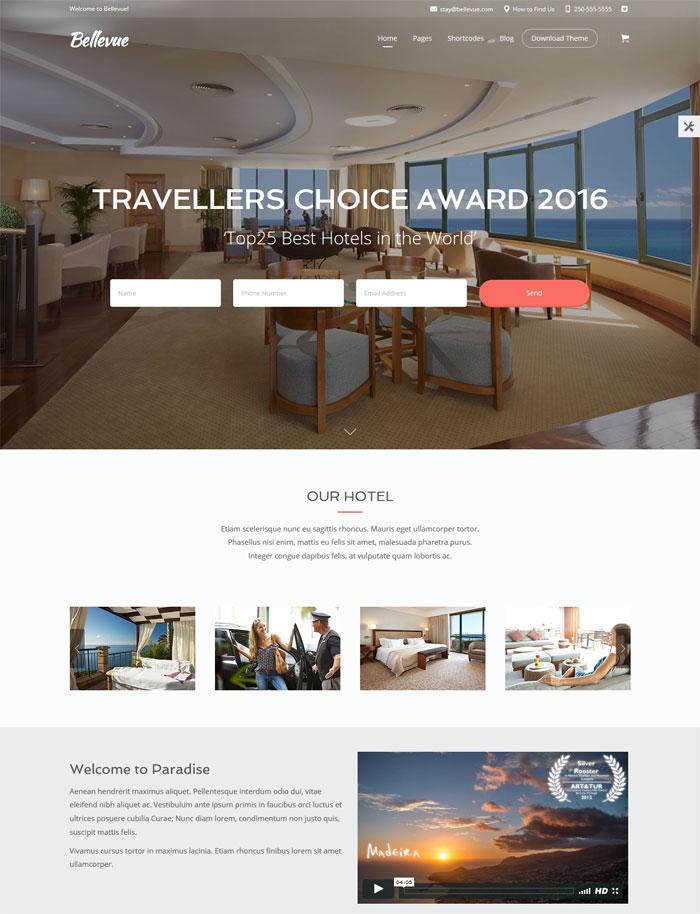 wordpress hotel template