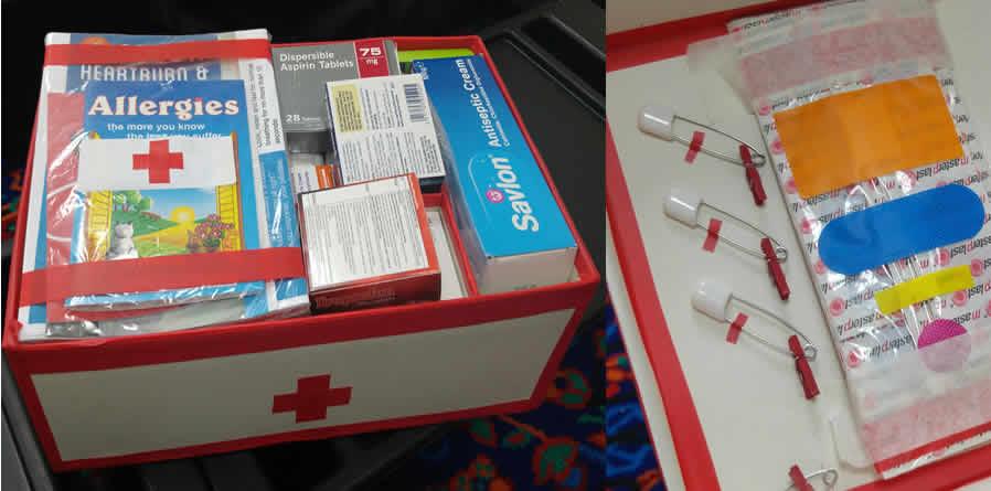 Heckmondwike Grammar School's Medical society Shoe Box Appeal
