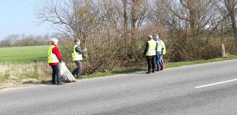 Den Grønne Bande samler affald