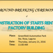 STARTSFacillity Philippines, Inc. Ground Breaking Ceremony 01/21/2016