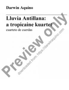 Lluvia Antillana: a tropicaine kuartet (2011)