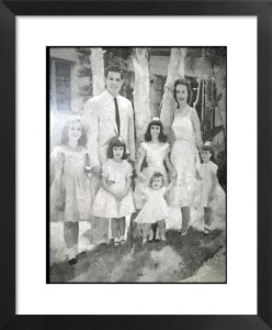 FotoSketcher - Runcie Family - 1950s