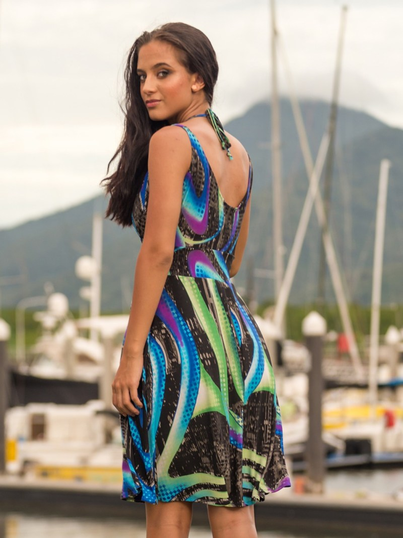 Sol Dress with Band in Cosmic Fusion by Australian Fashion Designer Sajeela Jamie.