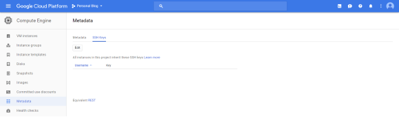 Add keys to SSH into Google Cloud
