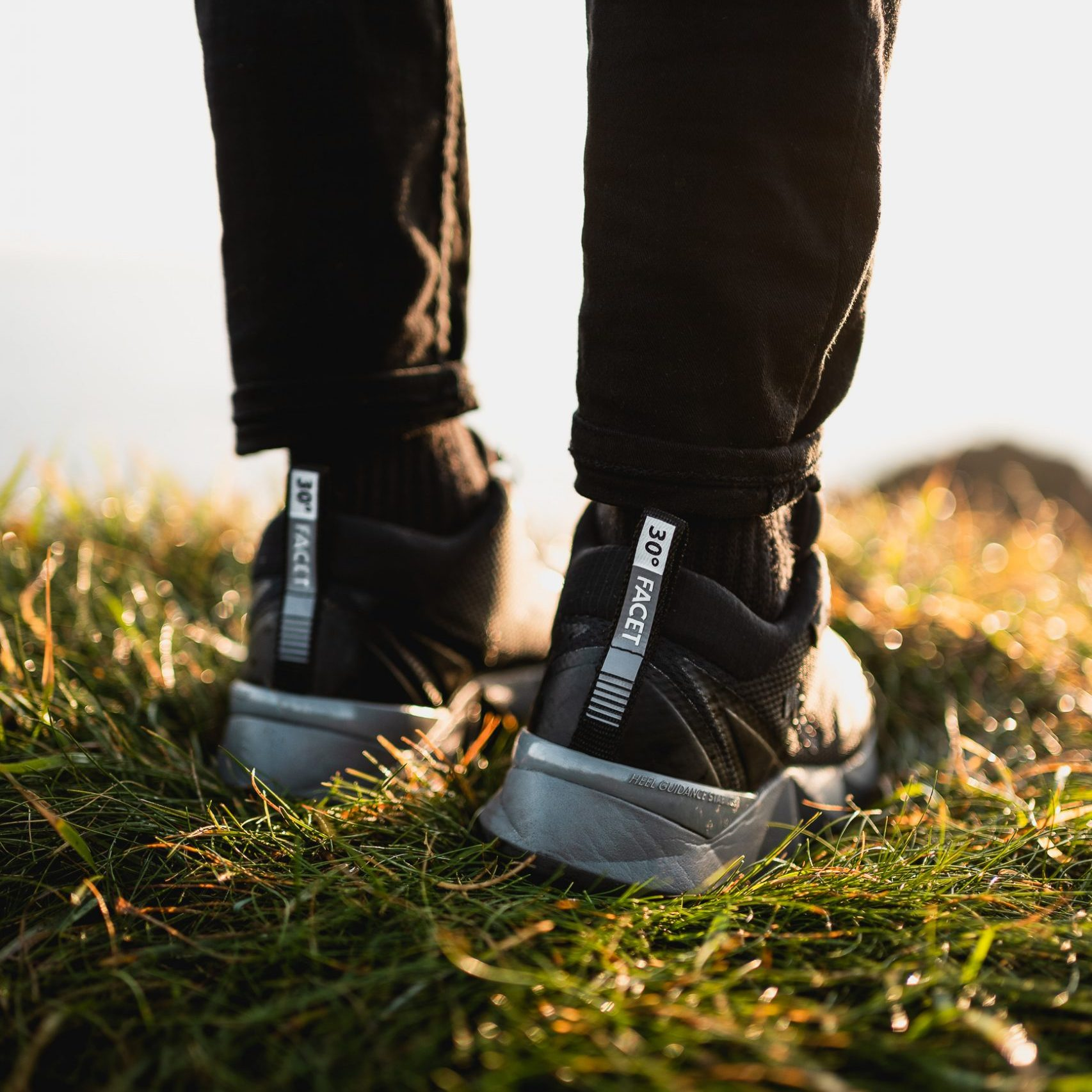 outdoor shoes with some golden grass