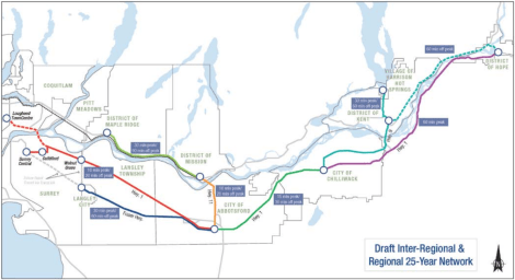 What the future of Fraser Valley transit could look like, according to an official proposal.