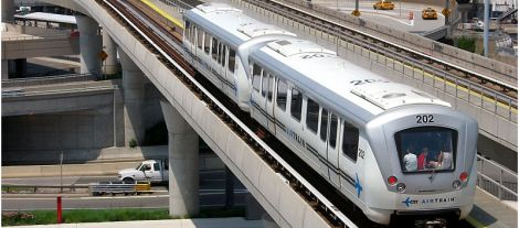 The JFK AirTrain was one of the rapid transit systems mentioned in the Champlain LRT study as a reference, alongside the Millennium Line and Canada Line in Vancouver.