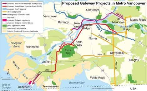 This summary map shows the highway projects that were proposed with the Gateway Program (along with other recent major road projects in the region). The previously proposed NFPR is highlighted in purple.