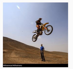 Behnaz Shafiei is a fearless female Iranian motorcross rider soaring for new heights.