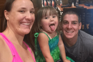 Doctors had given Emily, Chase and daughter Chole had the green light to go on the cruise while Emily was five months pregnant.