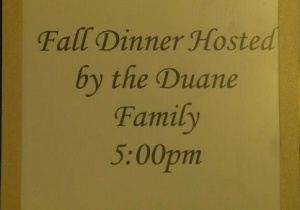 "Canceled wedding reception became a ""Fall Dinner."""