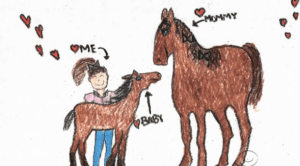 11-year-old Breana Carsey's vision of the horse she knew she was destined to have.