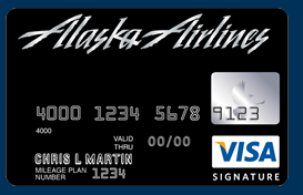 Alaska Airlines Visa Signature card helping us earn free airline miles without flying.