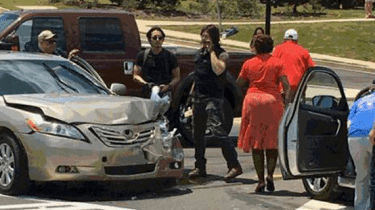 "Two stars of ""The Walking Dead"" stop to help victims of a car accident they witnessed in Peachtree City, Georgia."