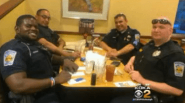 When a couple made it clear they didn't want to dine near a table where cops from the Homestead Police Department were dining, the cops picked up their tab in an act of grace, class and kindness.