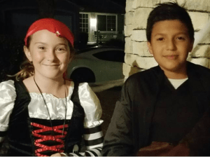10-year-old classmates and new friends, Amanda Moore and Rafael Anaya go trick or treating together after Amanda used Google Translate to write a note inviting the new boy at school to sit with her at lunch.