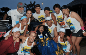 The San Diego Union Tribune reports the 15 marathons in which Johnston's run have raised more than $800,000 toward Huntington's Disease research.