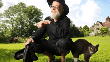 Final wish fulfilled for novelist Terry Pratchett who wanted all his unfinished works to be steamrolled and destroyed after his death.