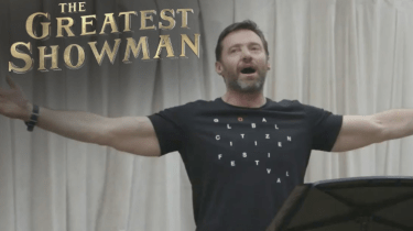 """How Hugh Jackman defied doctor's orders not to sing in order to get """"The Greatest Showman"""" greenlit."""