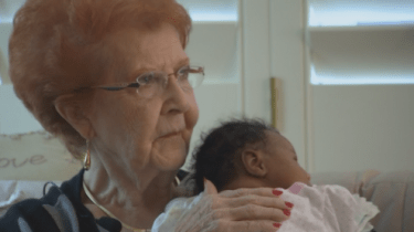 Joy Ringhofer got instant grandma status when she took a stranger and his newborn baby into her home when they were unable to fly home from Phoenix to Cleveland.