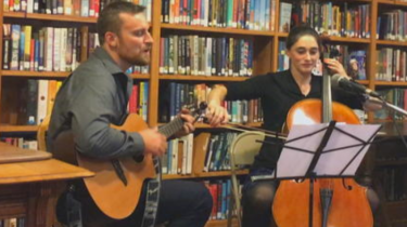 Political opponents Lucy Rogers and Zach Mayo ended their recent political debate for a state house seat in Vermont by pulling out their instruments and playing a beautiful duet together.