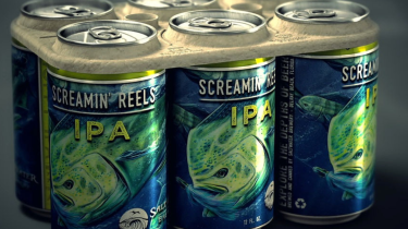 Saltwater Brewery debuts a six-pack ring that is edible instead of plastic and deadly. Better news for sea turtles.