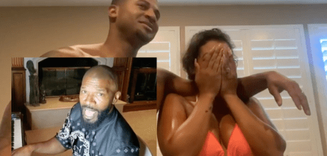 Man gets Jamie Foxx to sing to his wife for their 10th wedding anniversary.