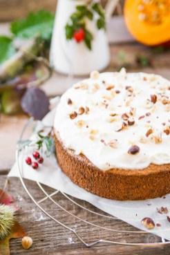 Kürbis-Nuss Kuchen