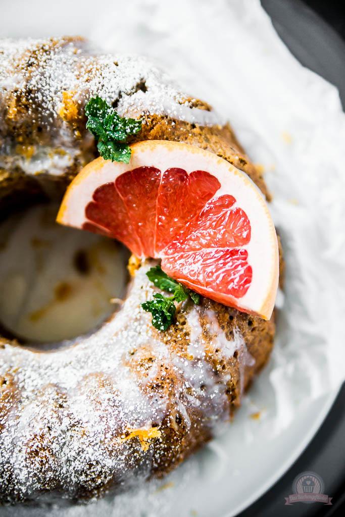 Mohn Grapefruit Gugelhupf
