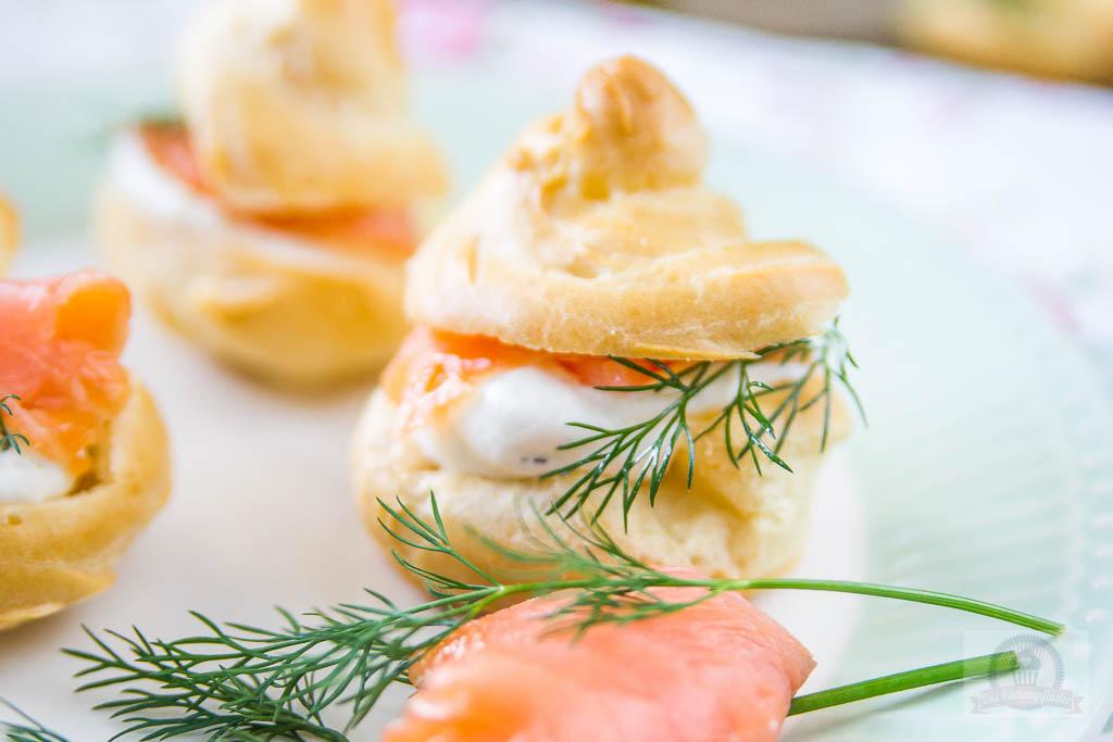 Lachs Frischkäse Windbeutel - Das Küchengeflüster