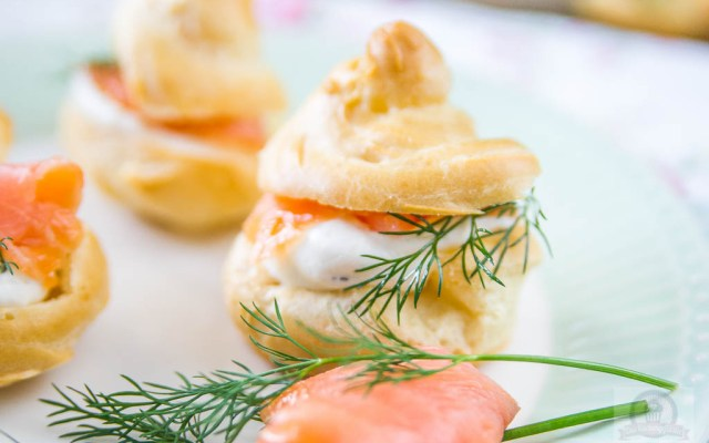 Lachs Frischkäse Windbeutel – Fingerfood zum Osterfest