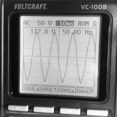 NAD Verstärker mit falsch gedrehtem Stecker. ca. 118 Volt.