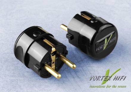 Vortex HiFi Nano Shield Power Plug schwarz, mit Nanotechnik gegen Oberwellen auf dem Stromnetz