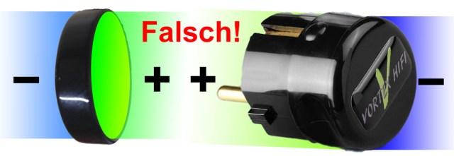 Bipolares-Aktivfeld-Power-plug-falsch