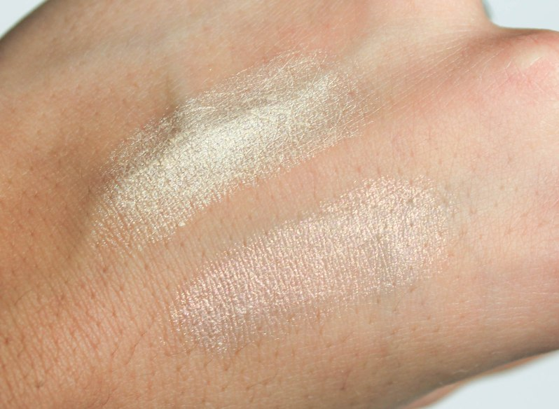 Dazzling highlighters- swatch 03 and 04