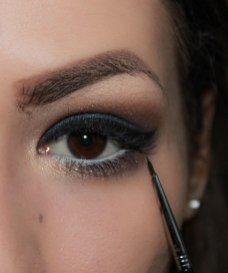 8. create cat eye; Brush- Sigma Eyeliner E11, KIKO Lasting gel eyeliner