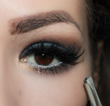 9. apply false lashes- Ardell 118