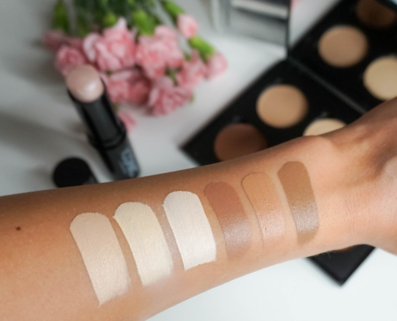 ICONIC LONDON- Cream Contour palette swatches