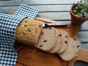 stevig glutenvrij boekweitbrood met cranberries