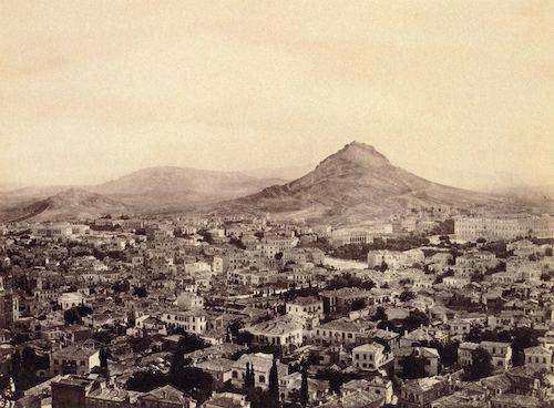 Σύμβολο άλλοτε της γυμνότητας της πρωτεύουσας ο Λυκαβηττός (φωτογραφία του 1865 του Francis Frith)