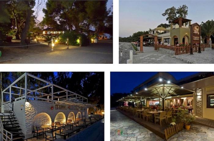 Το τουριστικό περίπτερο του ΕΟΤ και λειτουργούντα αναψυκτήρια στον χώρο του Πευκιά