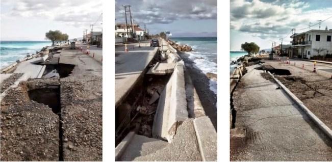 Διάβρωση και καταστροφή στην παραλία Ξυλοκάστρου