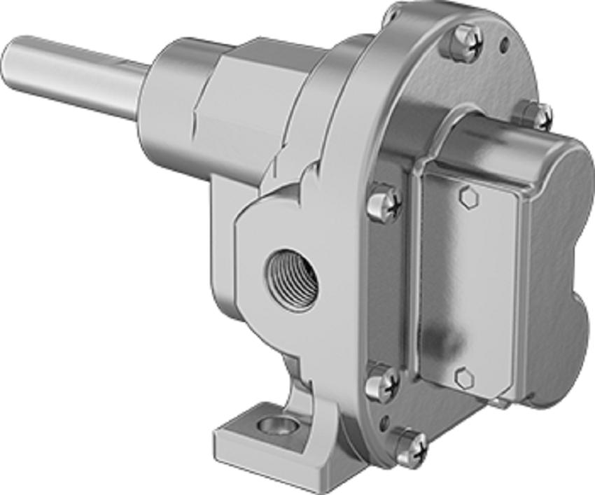 Rotary pump gear head