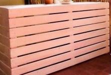 Ocultar aire acondicionado madera