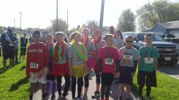 group of student runners