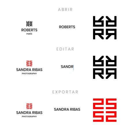 Plantillas de logotipos tipo monogramas (con letras inciales) personalizables.