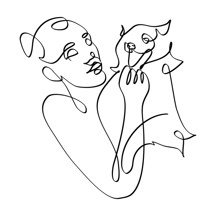 Ilustraciones personalizadas con mascotas a una línea